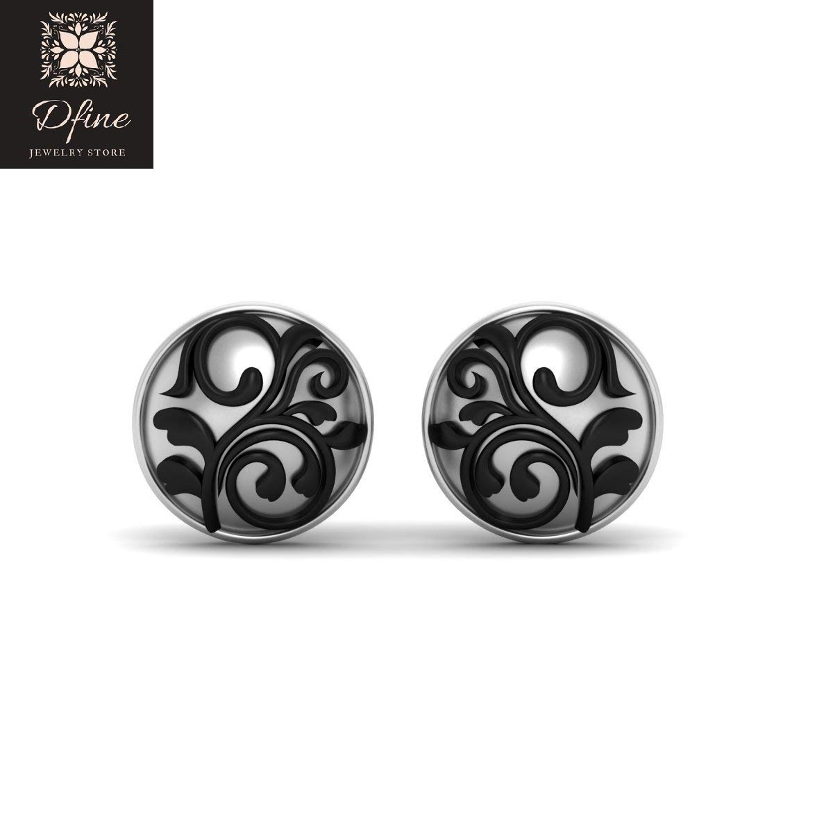 Art Nouveau Cufflinks Two Tone 925 Sterling Silver Wedding Accessories Gift