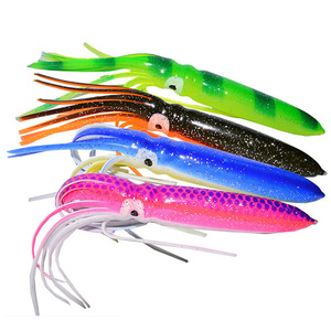 "7.1"" / 15g fishing tackle lures squid skirts crinkle octopus trolling fishing soft baits lure"