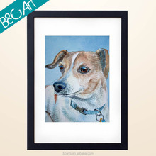 Z(64026) Realism Style Dog Painting Modern For Lobby Decoration