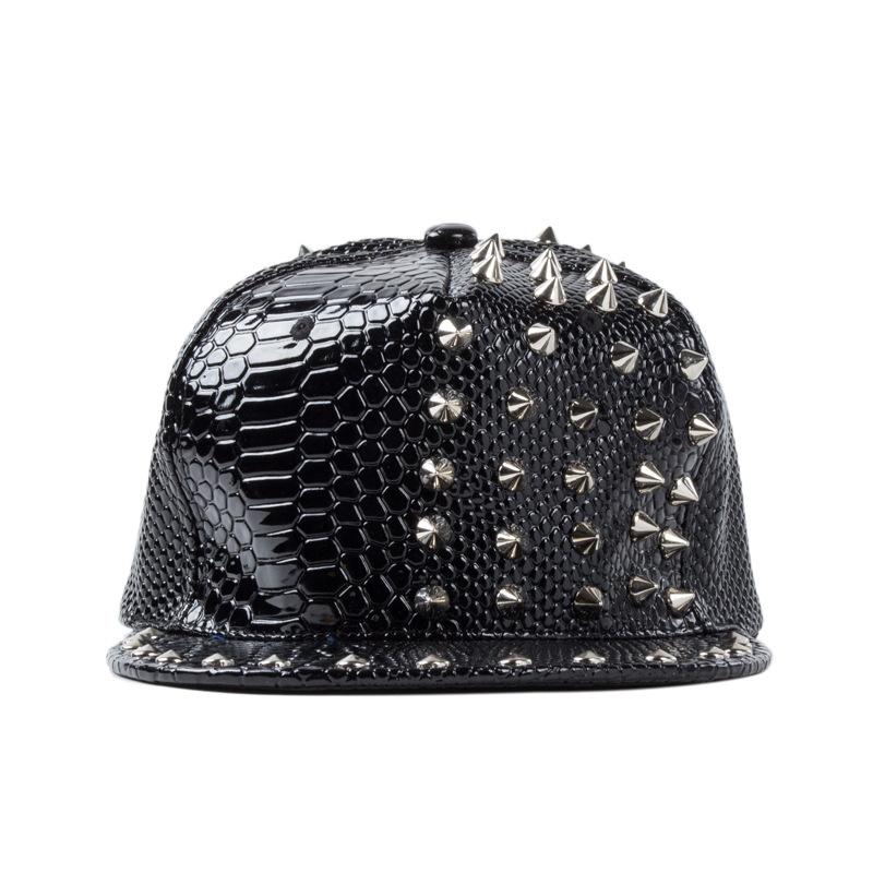Hot 2015 Spring Fashion Hats Women Rivet Patent Leather ...