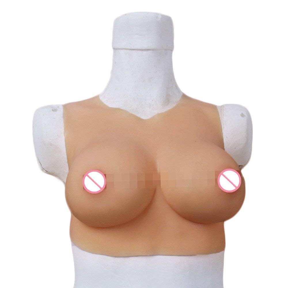 Artificial Breast Forms fake Boobs Enhancer Crossdresser breasts for Man crossdressing  C Cup Round neck Silicone d22afedf1