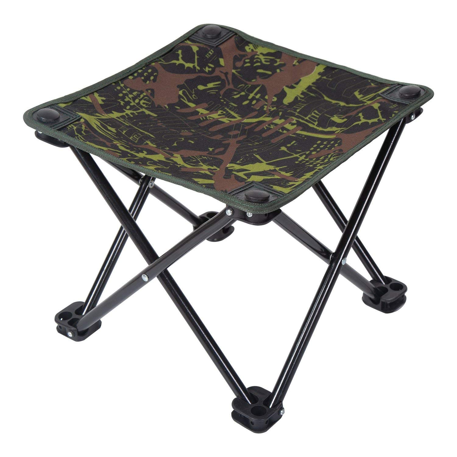 Ultralight Camping Chair, Pantete Collapsible Folding Stool Portable for Travel/Hiking/Gardening/Fishing/Beach/Camping, Mini Outdoor Slacker Chair with Carrier Strap Bag, 12.4''x12.4''x11'' Camouflage