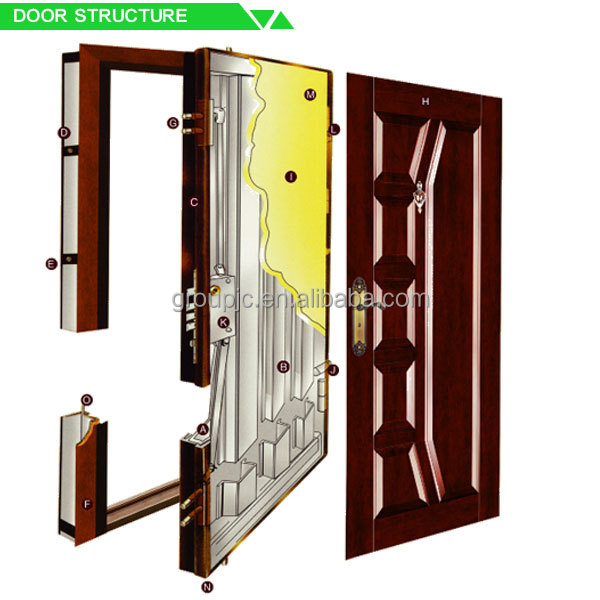 Interior wooden paints for iron gate steel frame building for Door design nigeria