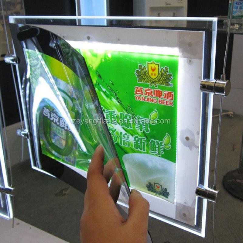 Advertising Led Light Box Acrylic Window Display Supplies