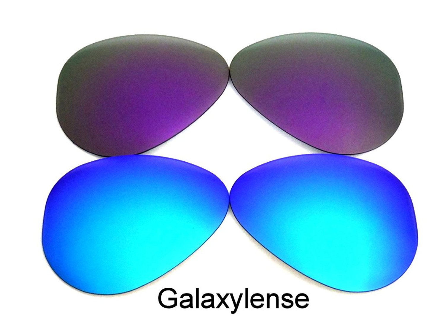 354d409c2e Get Quotations · Replacement Lenses For Ray-Ban RB3025 Blue Purple 62 mm  Polarized 2Pairs