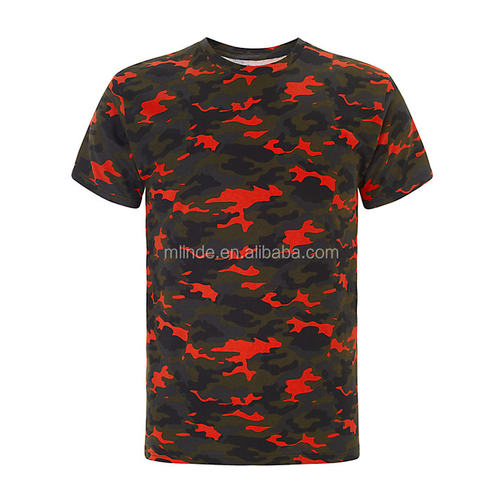 T-shirt Size s m l xl xxl xxxl Fashion Sport Wholesale Garment Red And Green Camo Print Color Combination T-shirt
