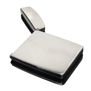 Shell Shaped Gentle Men Metal Business Card Case Brushed Fancy Stainless Steel Blank Zip Card Holder