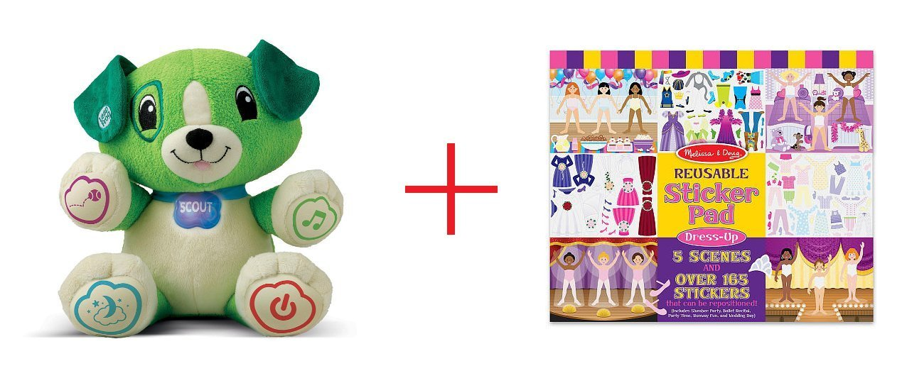 LeapFrog My Pal Scout and Melissa & Doug Reusable Sticker Pad - Dress Up - Bundle