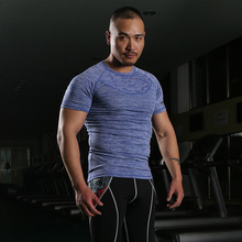 Mens Copper Wear Stretch Compression Top Shirt, Slimming Body Shaper Short Sleeve Shirt