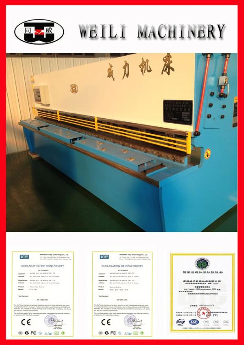 Top Quality Guillotine Design Advanced cnc china hydraulic shearing machine supplier