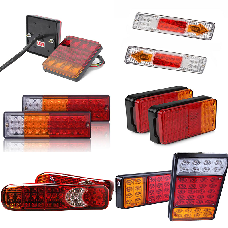 2019 New Different size 12V/24V Truck Trailer Rear Light Waterproof Camper Indicator Reverse Van Car Truck taillight