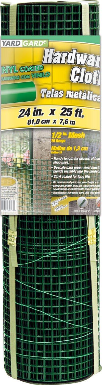 G & B 308258B 24-Inch X 25-Foot Green 1/2-Inch Zinc Coated Mesh Garden Cloth