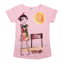 baby child clothing t shirt girl new fashion children shirts printed cartoon short sleeve summer nova