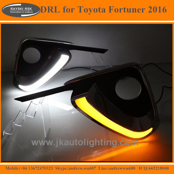 Hot Selling Super Quality LED Daytime Running Light for Toyota Fortuner Turn Signal LED DRL for Toyota Fortuner 2016
