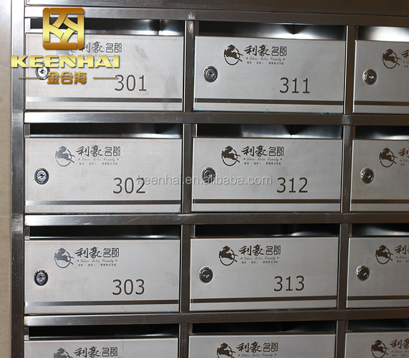 Commercial Mailbox Stainless Steel Apartment Letter Box Mail Post