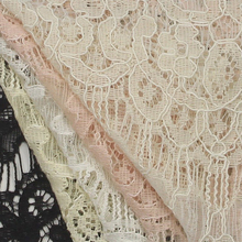 Silk Guipure Lace Fabric, Embroidery Lace Fabric Wholesale, White Cotton Lace Fabric