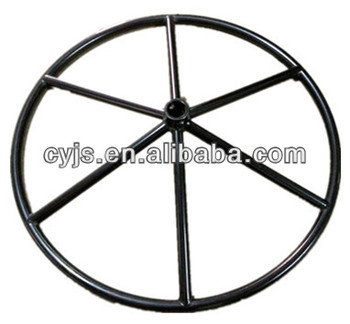 black spoke handwheel for operated valve