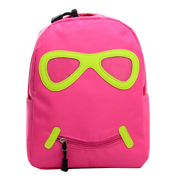 Get Quotations · ShineStar Cute Cartoon Glasses Print Backpack Children  Primary School Bags Pupils 2015 New Kindergarten Shoulder Bag d627a51c6fe8a