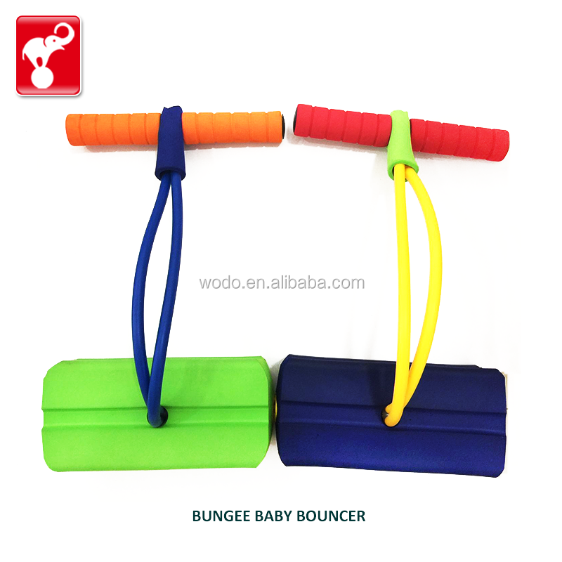 OEM factory good price custom made soft foam led squeaky sounds bungee baby bouncer