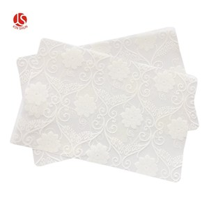 Table placemat plastic printing table mat cover with flowers design