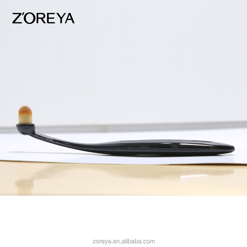 2016 new design Zoreya oval makeup brush toothbrush set