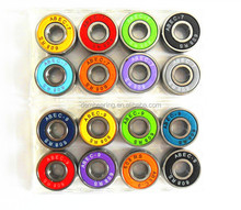 custom logo colorful rubber seal abec 7 Skateboard bearing 608rs for scooter wheel