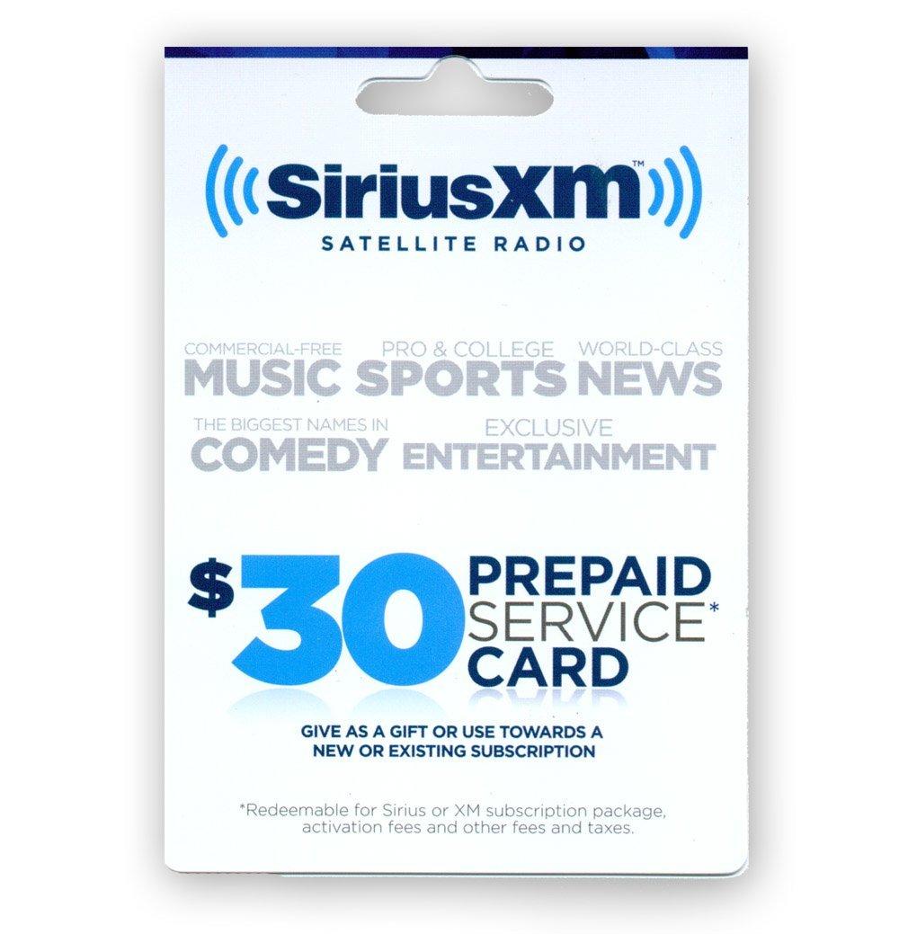 SIRIUS/XM $30 Prepaid Subscription Card for SIRIUS and XM Satell