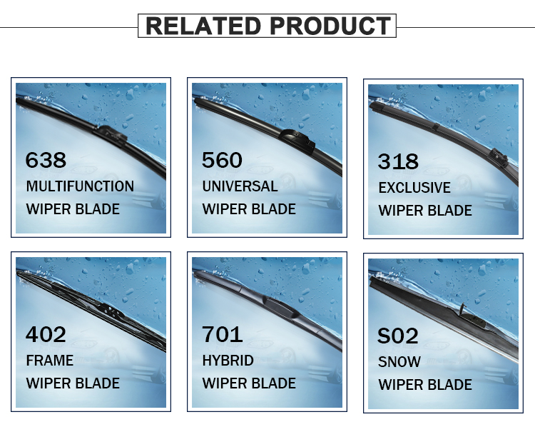 Soft Durable Car Spare Parts hybrid wiper blade