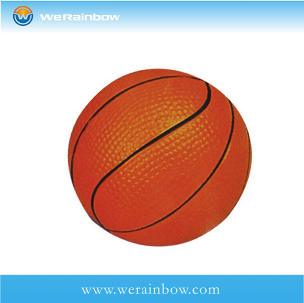 promotional good quality pu mini basketball stress ball