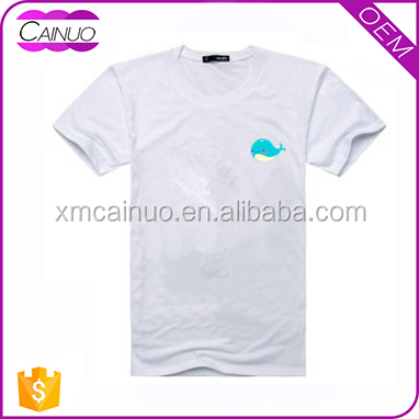 Chest Logo printed wholesale own branded name print to t-shirt