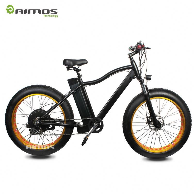 TOP/OME Fat tire powered Mountain Electric Bicycle witn 21 Speed
