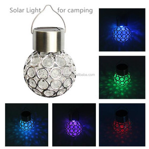 3pcs 1.2V 0.06W 7 Color Solar Light Ball Shape Camping Lamp for Outdoor Hanging