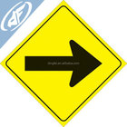 "dingfei Signs Yellow Plastic Reflective Sign 12"" Arrow"