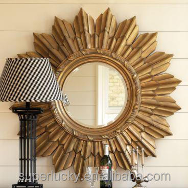 round salon wall mirrors decorative antique wall glass mirror