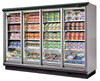 Used Shandong showcase air cooling 4 glass door cooler supermarket with CE ROHS