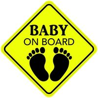 Baby in Car Weatherproof Sticker Baby on Board Reflective Car Sign Sticker