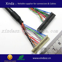 2.54 pitch jae jst molex connector 30pin ribbon cables distributors