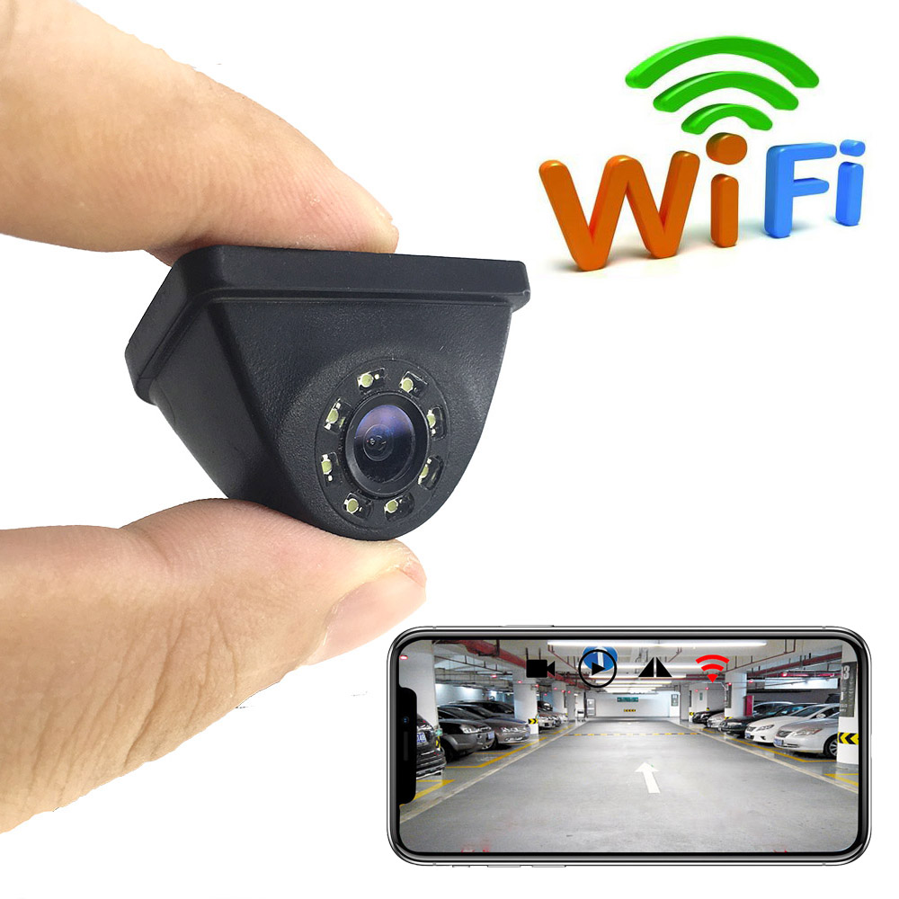 SZDALOS Car Wifi Waterproof Reversing Rearview Backup Camera for iphone/ipad/ios Android Smart Devices by APP