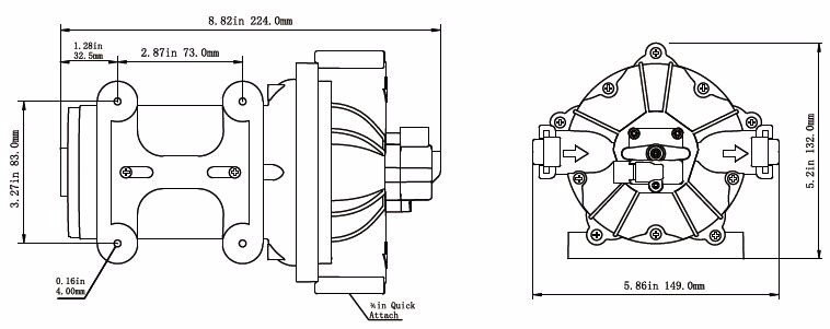 Seaflo 12v 5gpm 70psi Electric Water Diaphragm Pumps Self
