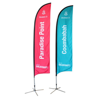 Cheap outdoor advertising swooper flags custom feather beach flags for sale