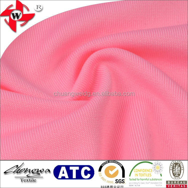 polyester spandex stretch fabric for sport bra fit moisture wicking tank tops fitness fabric