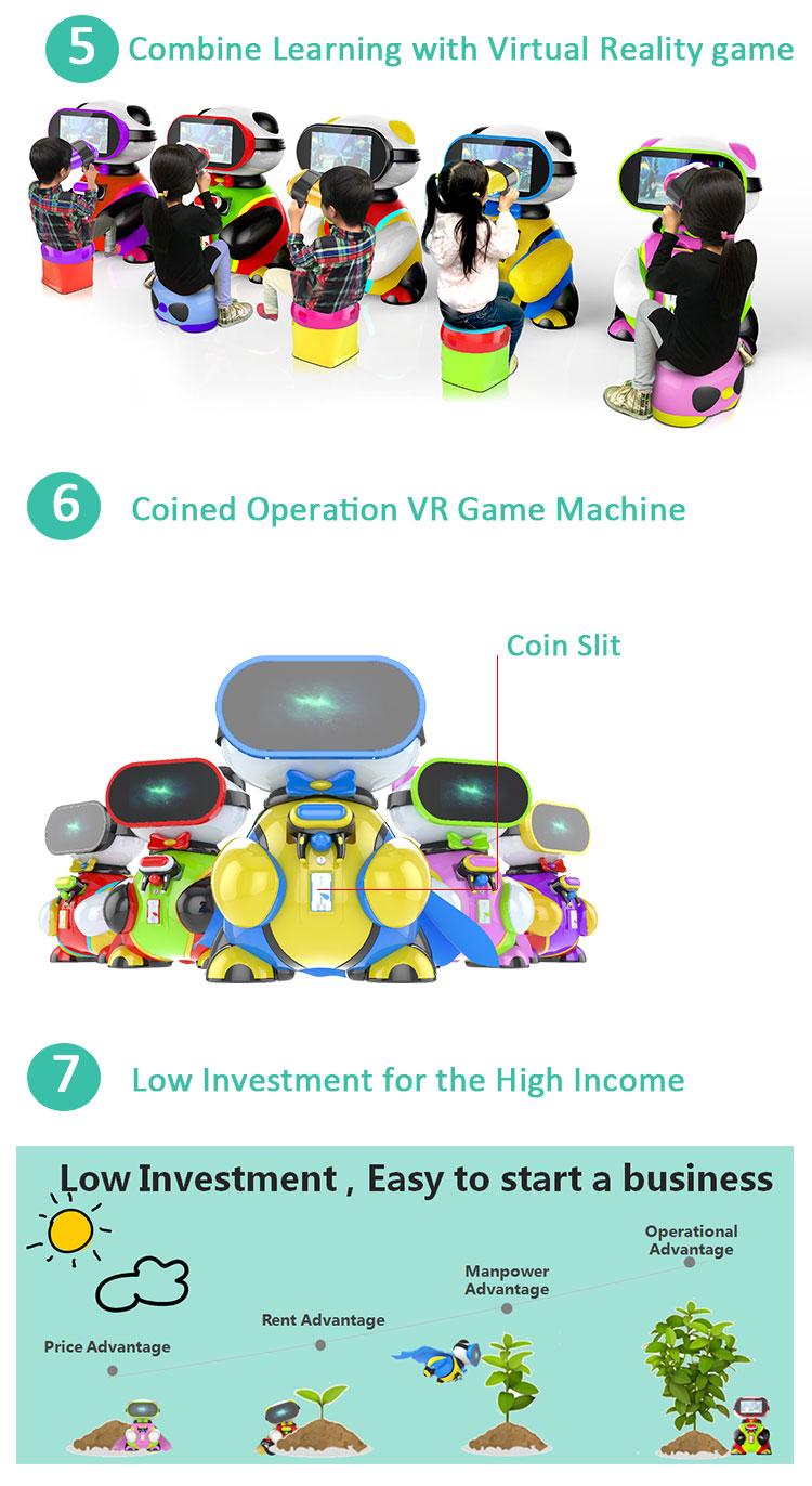Snelle geld verdienen vr kinderen video kids interactieve schieten game machine muntautomaat virtual reality beer baby vr onderwijs