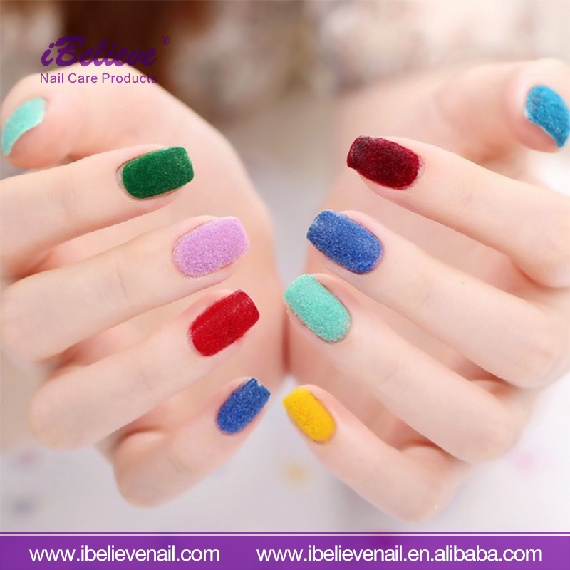 Personal Care Fuzzy Flocking Velvet Nail Art Powder Velvet Set