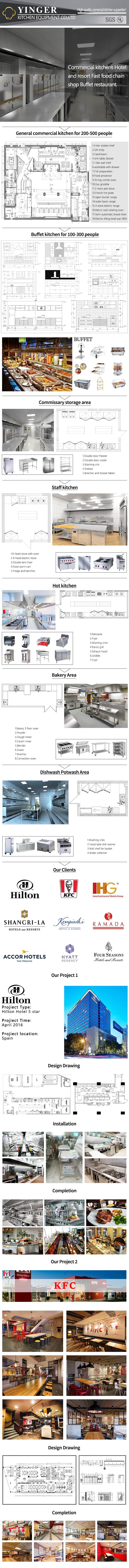 Commercial Hotel Professional Kitchen Project Restaurant equipment