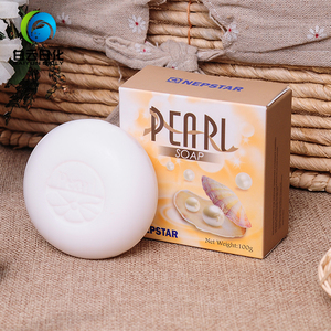 100g White Natural Pearl Daily Use Bath Shower Soaps Bar