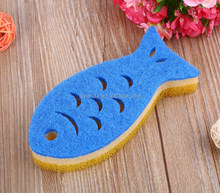 Fish cartoon Dish cleaning melamine filter sponge Bowl Plate cleaning washing foam
