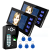 2016 best selling pinhole Camera hands free waterproof touch key LCD monitor intercom doorbell systems for home