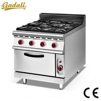 Factory price 4 burner gas cooker with oven, gas range with 4 burner oven, gas oven burner