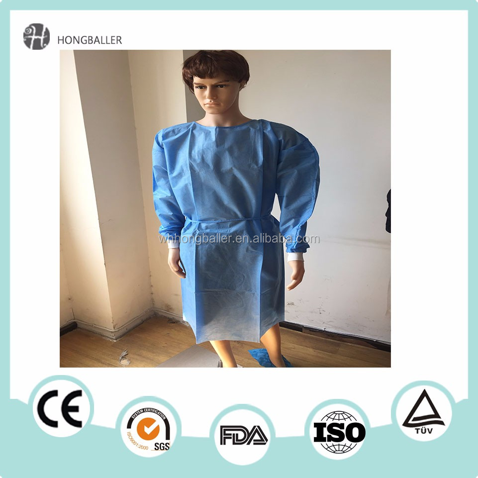 Sterile cheap hospital disposable medical surgical gowns for sale