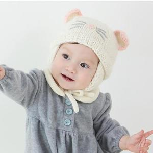 710be06349a Infant Baby Girls Hat Kids Winter Warm Hats Toddler Kids Cartoon Cat Ear  Knitted Beanie Cap Newborn Photography Props